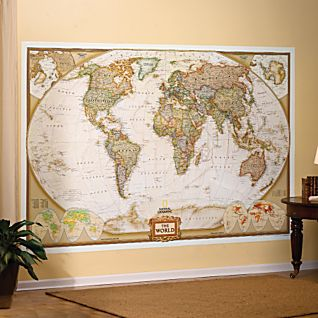 National geographic wall map