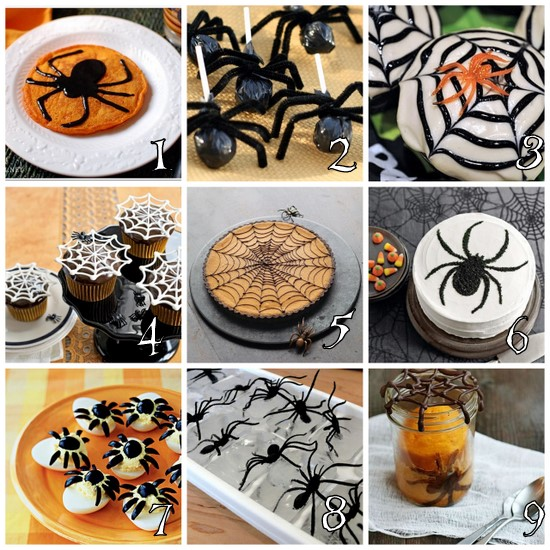Spider Party food