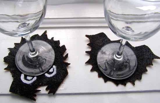 Bat and hairy toad coaster