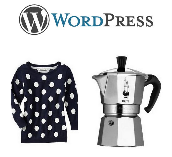 Moka pot polka dot wordpress